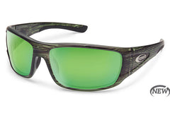 Suncloud Tribute Matte Green Stripe Sunglasses, Green Mirror Lenses