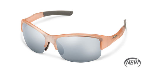 Suncloud - Torque Satin Pink Sunglasses / Polarized Silver Mirror Lenses