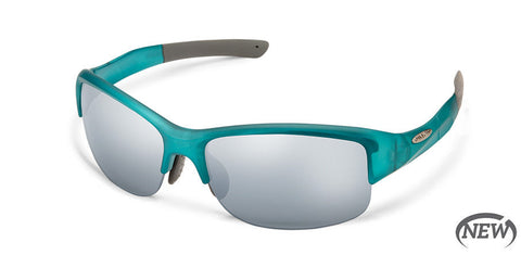 Suncloud - Torque Satin Teal Sunglasses / Polarized Silver Mirror Lenses