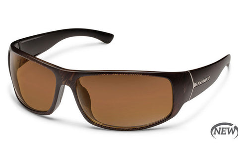 Suncloud - Turbine Blackened Tortoise Sunglasses, Brown Polarized Lenses