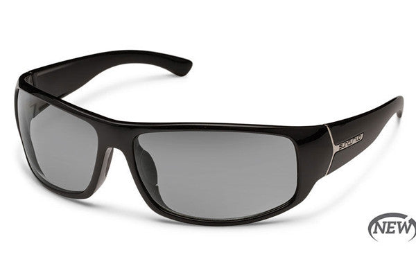 Suncloud - Turbine Black Sunglasses, Gray Polarized Lenses