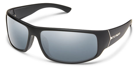 Suncloud - Turbine Matte Black Sunglasses / Polarized Silver Mirror Lenses