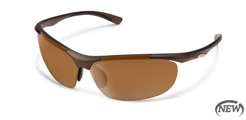 Suncloud - Whip Matte Brown Sunglasses / Polarized Brown Lenses