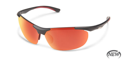 Suncloud - Whip Matte Graphite Sunglasses / Polarized Red Mirror Lenses