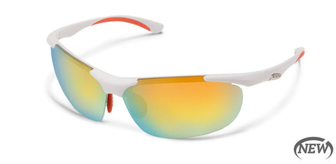 Suncloud - Whip White Sunglasses / Polarized Orange Mirror Lenses