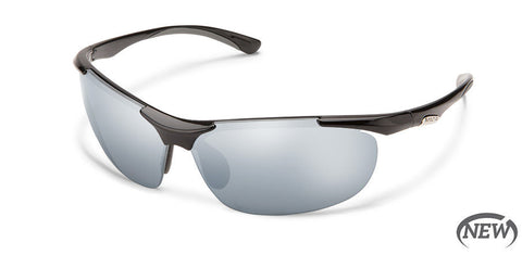 Suncloud - Whip Black Sunglasses / Polarized Silver Mirror Lenses