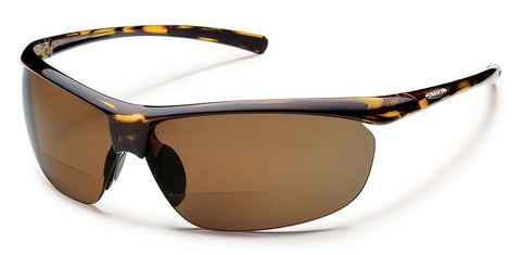 Suncloud - Zephyr +1.50 Tortoise Sunglasses, Brown Polarized Lenses