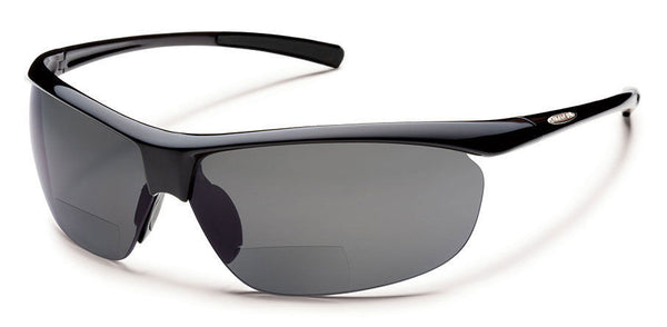 Suncloud - Zephyr +1.50 Black Sunglasses, Gray Polarized Lenses