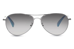 TOMS - Kilgore Silver Sunglasses, Grey Gradient Lenses