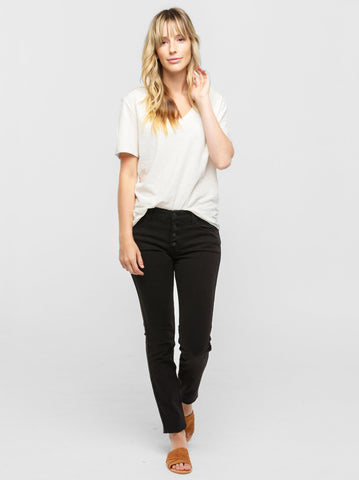 ABLE - The Daysi Button Front Denim Jeans