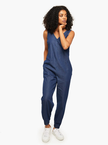 ABLE - Charvee Relaxed Chambray Jumpsuit