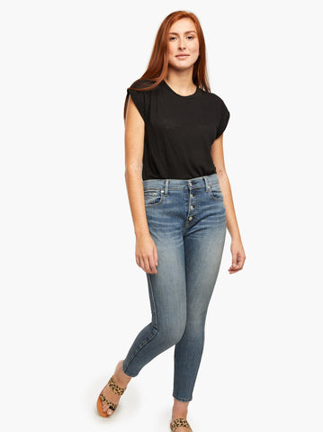 ABLE - The Lenni Button Front Denim Jeans