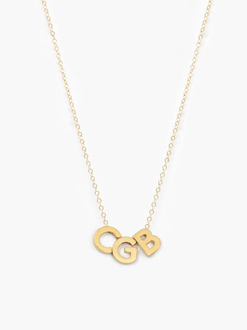 ABLE - Letter Gold 3 Letter Necklace