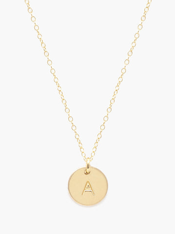 ABLE - Mini Tag Gold Necklace