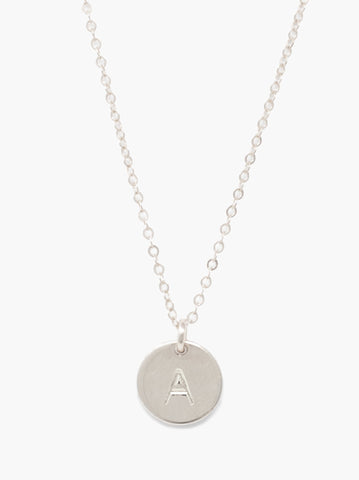 ABLE - Mini Tag Silver Necklace