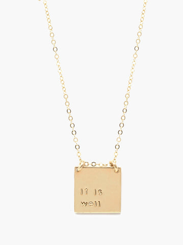 ABLE - Phrase Gold Necklace