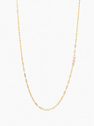 ABLE - Pearl Station Gold Blush Necklace