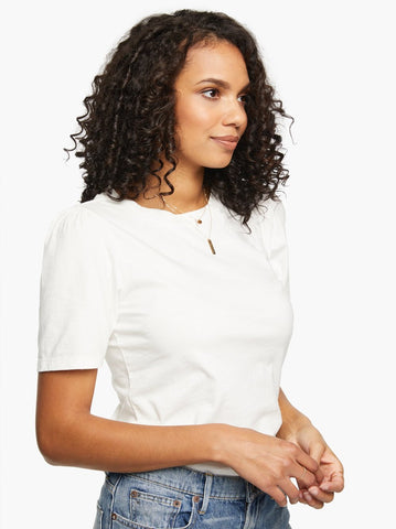 ABLE - Renuka Puff White Short Sleeve Tee