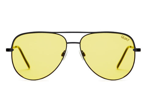 Quay x Desi Perkins Sahara Black / Yellow Sunglasses