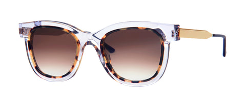 Thierry Lasry - Savvy Clear Tortoise Sunglasses / Brown Gradient Lenses