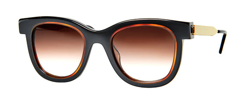 Thierry Lasry - Savvy Black Orange Sunglasses / Brown Gradient Lenses