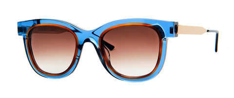 Thierry Lasry - Savvy Translucent Blue Orange Sunglasses / Brown Gradient Lenses