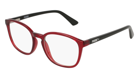 Puma - PJ0017O Junior Red + Black Eyeglasses / Demo Lenses