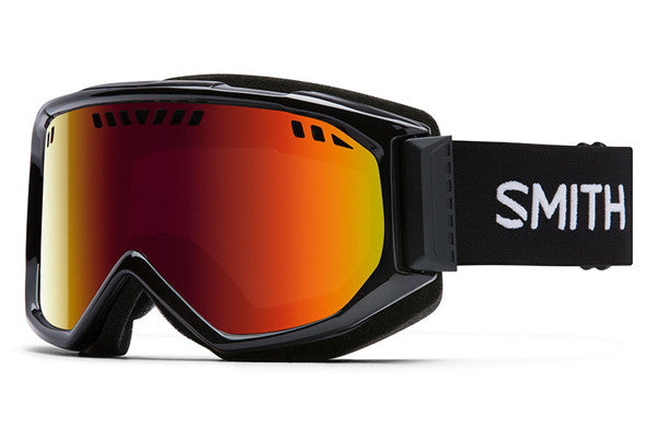 Smith - Scope Black Goggles, Red Sol-X Mirror Lenses