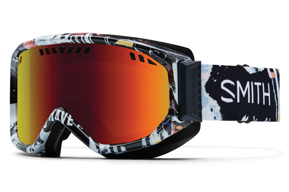 Smith - Scope Ripped Goggles, Red Sol-X Mirror Lenses