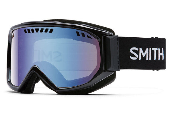 Smith - Scope Black Goggles, Blue Sensor Mirror Lenses