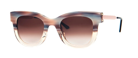 Thierry Lasry - Sexxxy Pink Horn Clear Sunglasses / Brown Gradient Lenses