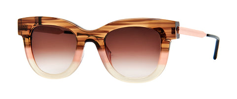 Thierry Lasry - Sexxxy Brown Pink White Sunglasses / Brown Gradient Lenses