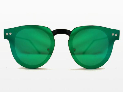 Spitfire - Sharper Edge 2 Black Sunglasses, Green Mirror Lenses