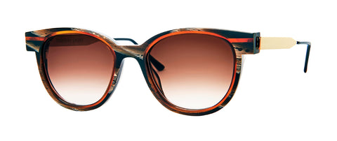 Thierry Lasry - Shorty Beige Horn Orange Sunglasses / Brown Gradient Lenses