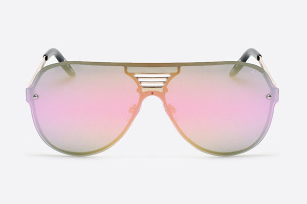 Quay Showtime Black / Pink Sunglasses