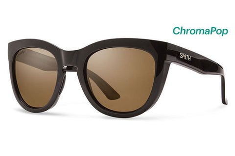 Smith - Sidney Black Sunglasses, Brown ChromaPop Polarized Lenses