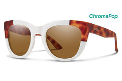 Smith - Rebel White Honey Tortoise Block Sunglasses, ChromaPop Polarized Brown Lenses