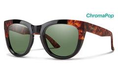 Smith - Rebel Black Havana Block Sunglasses, ChromaPop Polarized Gray Green Lenses