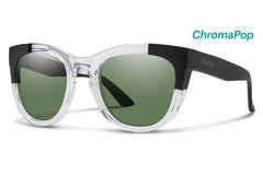 Smith - Rebel Crystal Black Block Sunglasses, ChromaPop Polarized Gray Green Lenses