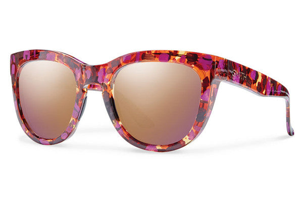 Smith - Sidney Flecked Mulberry Tortoise Sunglasses, Rose Gold Mirror Lenses