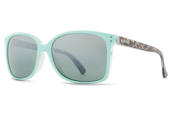 VonZipper - Castaway Mint Crystal Tort MTS Sunglasses, Silver Lenses