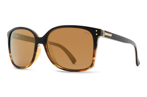 VonZipper - Castaway Black Tort Faded Gloss Sunglasses, Wildlife Polarized Lenses