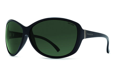 VonZipper - Vacay  Black Gloss PBV Sunglasses, Wildlife Vintage Grey Lenses