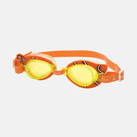Leader - Fish Orange Swim Goggles / Orange Lenses