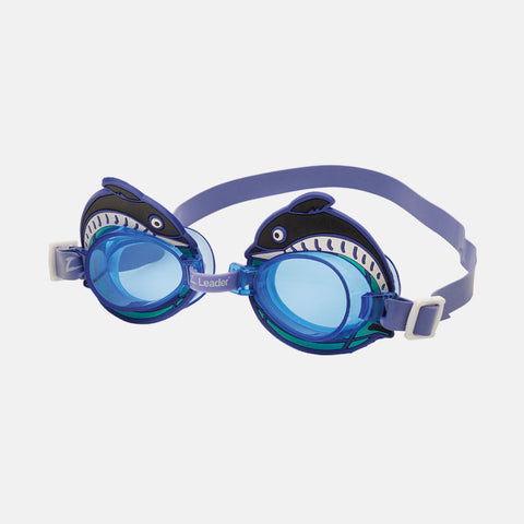 Leader - Dolphin Blue Swim Goggles / Blue Lenses