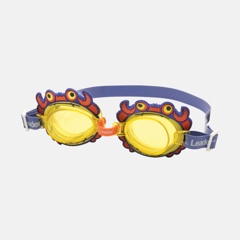 Leader - Orange Crab Purple Swim Goggles / Orange Lenses