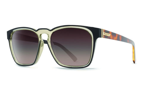 VonZipper - Levee Black Gloss Aged Crystal ABB Sunglasses, Brown Gradient Lenses