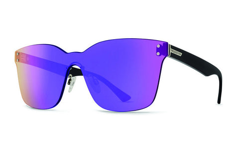 VonZipper - Alt Howl Black Gloss ALP Sunglasses, Flash Purple Lenses