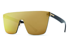 VonZipper - Alt Don Mega Black Gloss ALG Sunglasses, Flash Gold Lenses