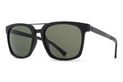 VonZipper - Plimton Black Satin BKS Sunglasses, Vintage Grey Lenses